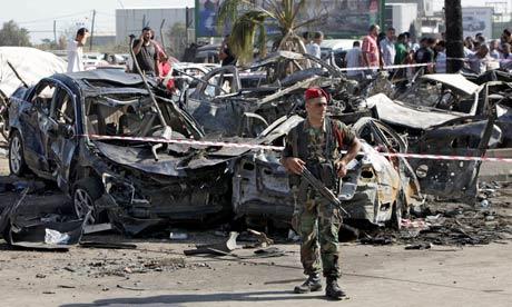 Tripoli bomb scene