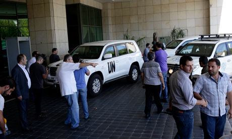 The UN high representative for disarmament affairs arrives in Damascus, Syria