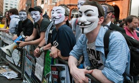 Supporters of Wikileaks founder Julian Assange
