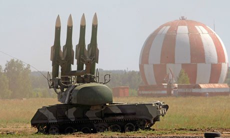 Russian Buk-M2E air defence missile systems