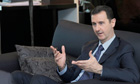Syrian President al-Assad in interview with Russian newspaper