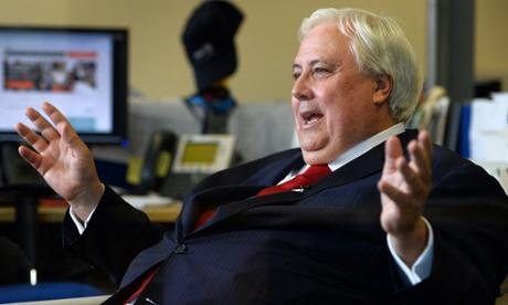Australian billionaire Clive Palmer.