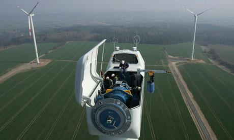 German wind turbine at Wimmelburg near Halle