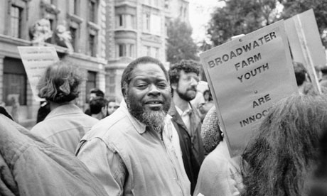 Bernie Grant at a Broadwater protest