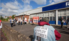 Protest outside Remploy factory