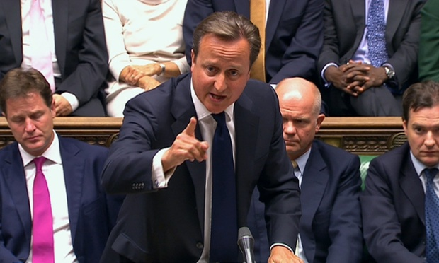 David Cameron speaking in the House of Commons debate on Syria.