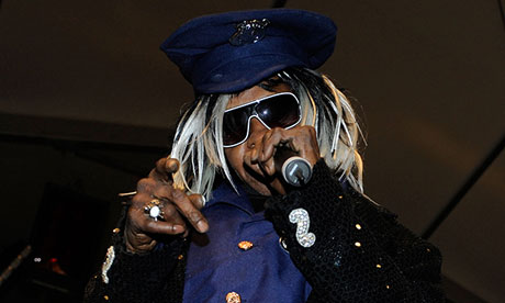 Sly Stone performing at Coachella, 2010.