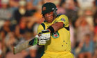 Aaron Finch hits out on his way to his T20 record