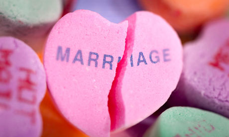 pink heart with marriage text