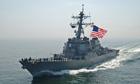 US missile destroyer USS Mahan