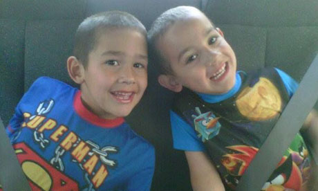 A photo from their mother's Facebook page of Noah and Connor Barth, strangled by an escaped python