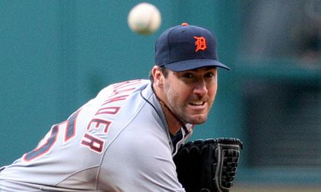 Detroit Tigers Justin Verlander pitches in Cleveland
