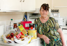 Ann Jones, a client of Real Aid in Hull, who collects food there for her daughter.