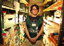 Daphine Aikens, manager of the food bank at Christ Church, Fulham