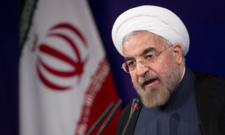 The Iranian president, Hassan Rouhani
