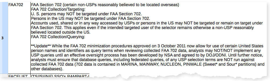 FAA Section 702 document