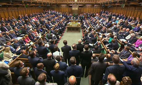 Commons during the Syria debate