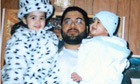 Shaker Aamer with two of his children, son Michael and daughter Johninh before he was imprisoned in