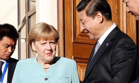 Angela Merkel Xi Jinping
