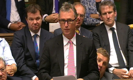 Nigel Evans makes his personal statement to the Commons.