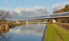 An artist's impression of part of the HS2 high-speed railway