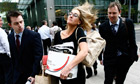 Lehman Brothers employees carry their belongings out of its London office on the day the bank collap