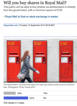 Guardian Royal Mail poll