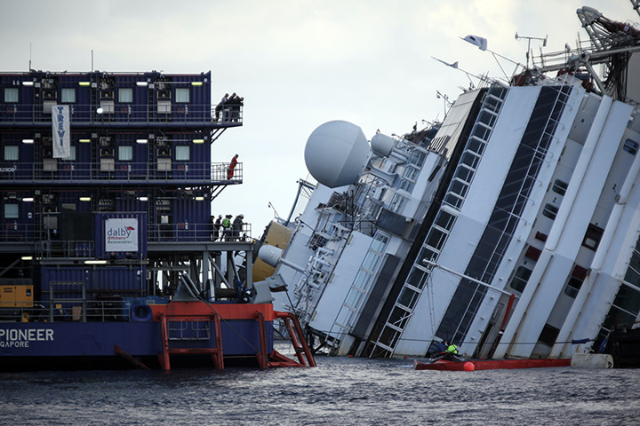 Cruise Ship Costa Concordia Salvage