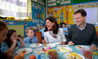 Nick Clegg school dinner