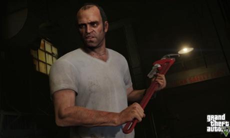 Trevor wields a wrench.