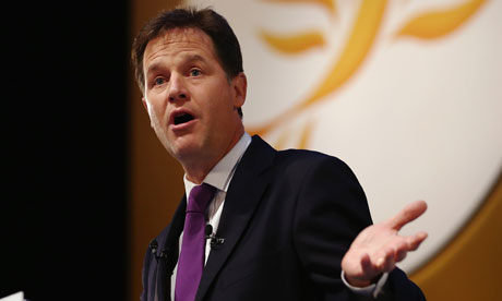 Deputy Prime Minister Nick Clegg Liberal Democrat Party Conference