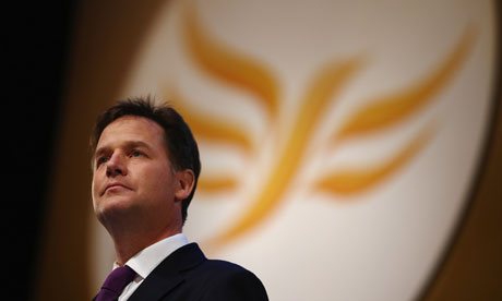 Nick Clegg Delivers His Keynote Speech At The Liberal Democrat Party Conference