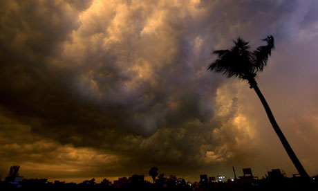 Rain clouds over Calcutta