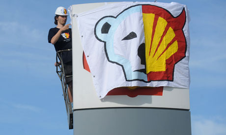 Greenpeace protest against Shell