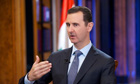 Syria's President Bashar al-Assad speaks during  an interview with Fox News channel in Damascus