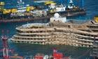 Costa Concordia Turned Upright