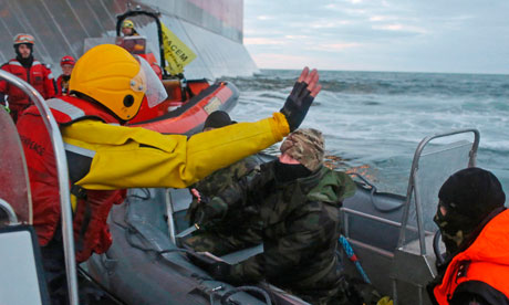 Greenpeace ship boarded by Russians