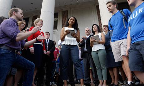 Black university of alabama students join traditionally white