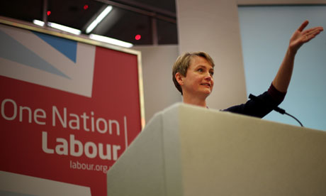 Yvette Cooper speaks at Labour's women's conference in Brighton