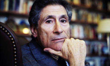 Edward Said Poses In His Office