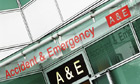 A&E entrance at University College Hospital, London