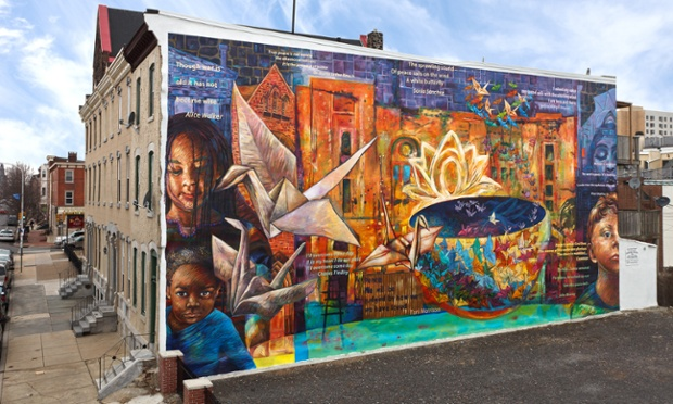 Twitter road trips usa baltimore to bar harbor day two for Baltimore mural program