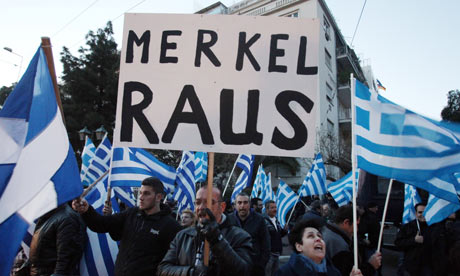 Golden Dawn protest against German austerity