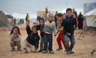 Syrian children refugee camp