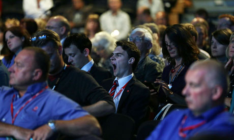 Labour conference delegates yawn