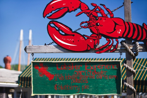 Lobster sign in New England