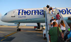 passengers board Thomas Cook flight