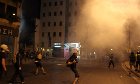 Protesters demonstrating against Golden Dawn clash with police in Athens this week