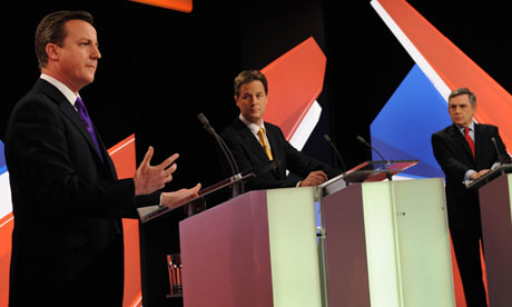 David Cameron debates his rivals live on TV