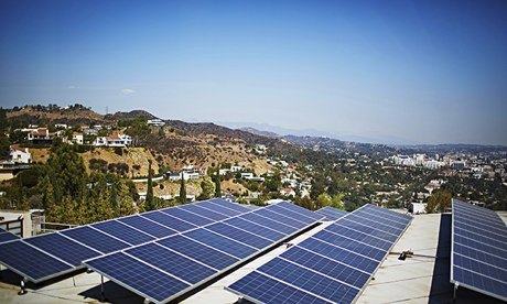 'Vast promise': Solar panels in Los Angeles.
